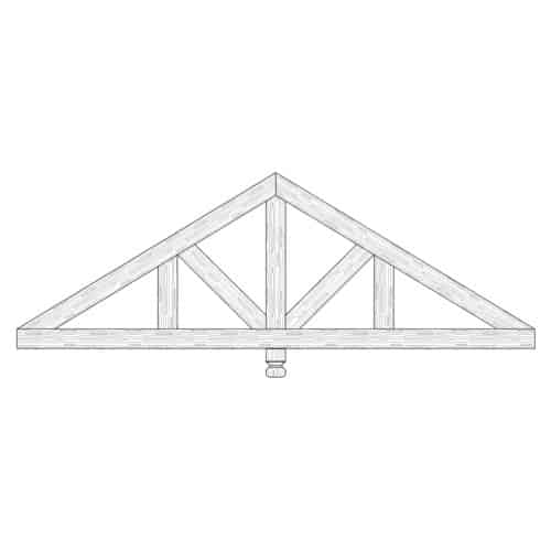 Faux Wood Ceiling Beam Truss - E1-CC-D03(b)-1F
