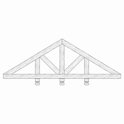 Faux Wood Ceiling Beam Truss - E1-CC-D03(b)-3F
