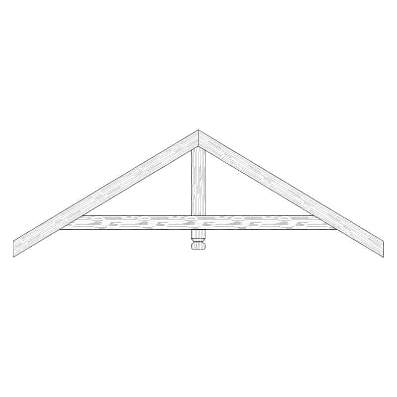 Faux Wood Ceiling Beam Truss - E1-RC-D01(a)-1F