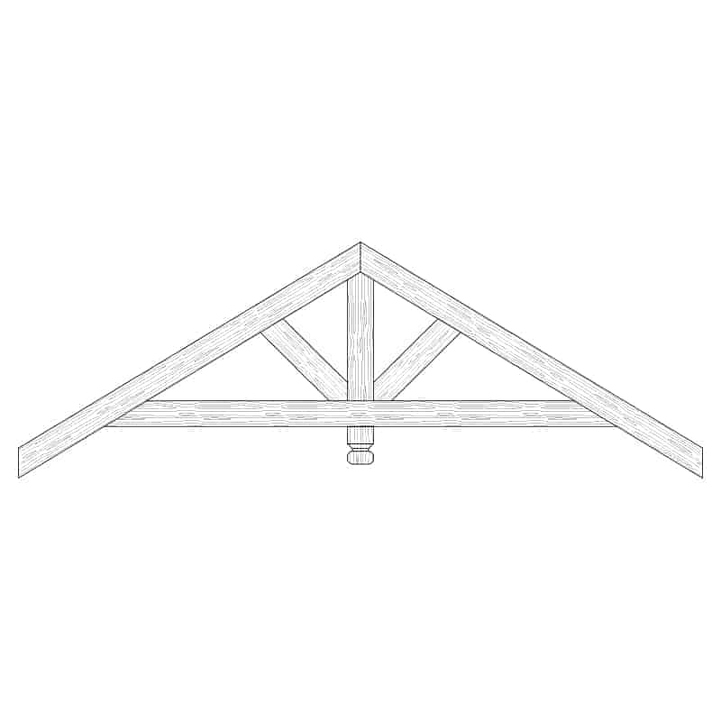 Faux Wood Ceiling Beam Truss - E1-RC-D01(b)-1F