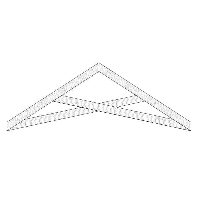 Faux Wood Ceiling Beam Truss - E1-SC-D00(a)
