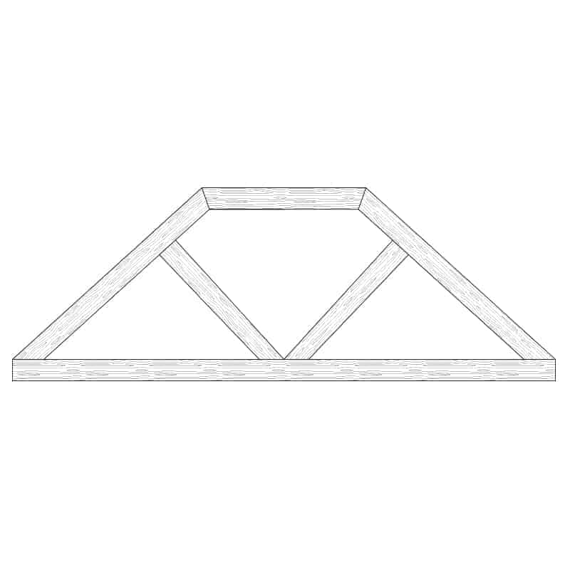 Faux Wood Ceiling Beam Truss - E2-CC-D00(b)