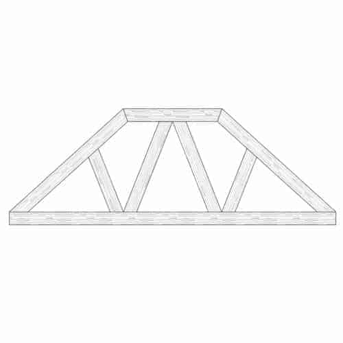 Faux Wood Ceiling Beam Truss - E2-CC-D00(d)