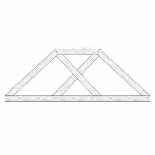 Faux Wood Ceiling Beam Truss - E2-CC-D00(e)