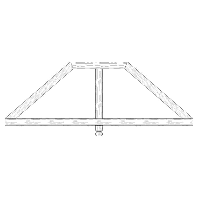 Faux Wood Ceiling Beam Truss - E2-CC-D01(a)-1F