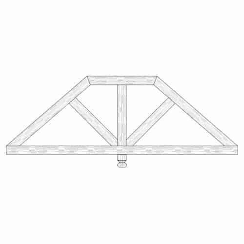 Faux Wood Ceiling Beam Truss - E2-CC-D01(b)-1F
