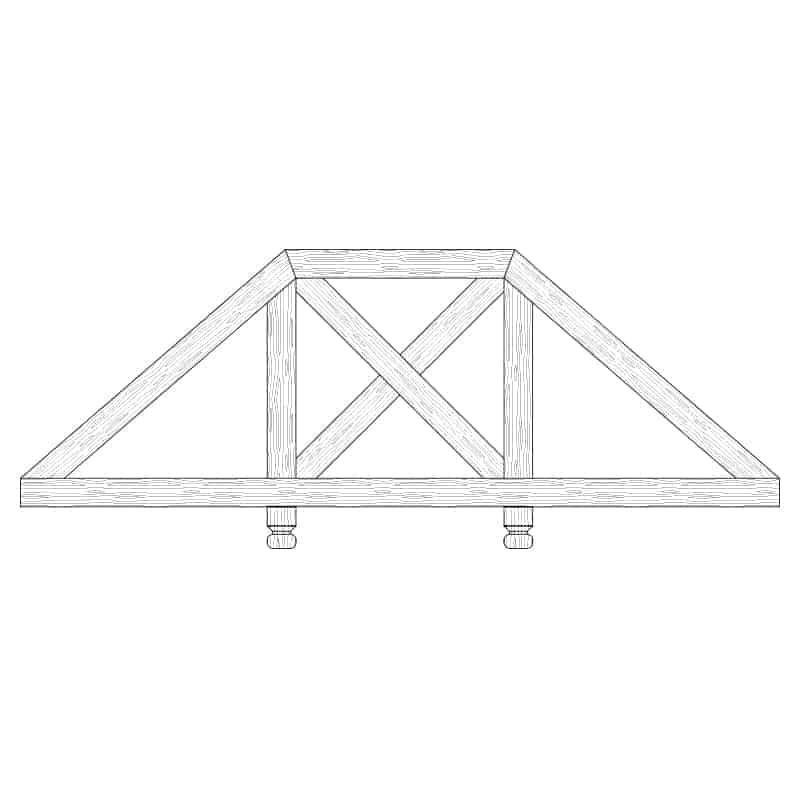 Faux Wood Ceiling Beam Truss - E2-CC-D03(c)-2F