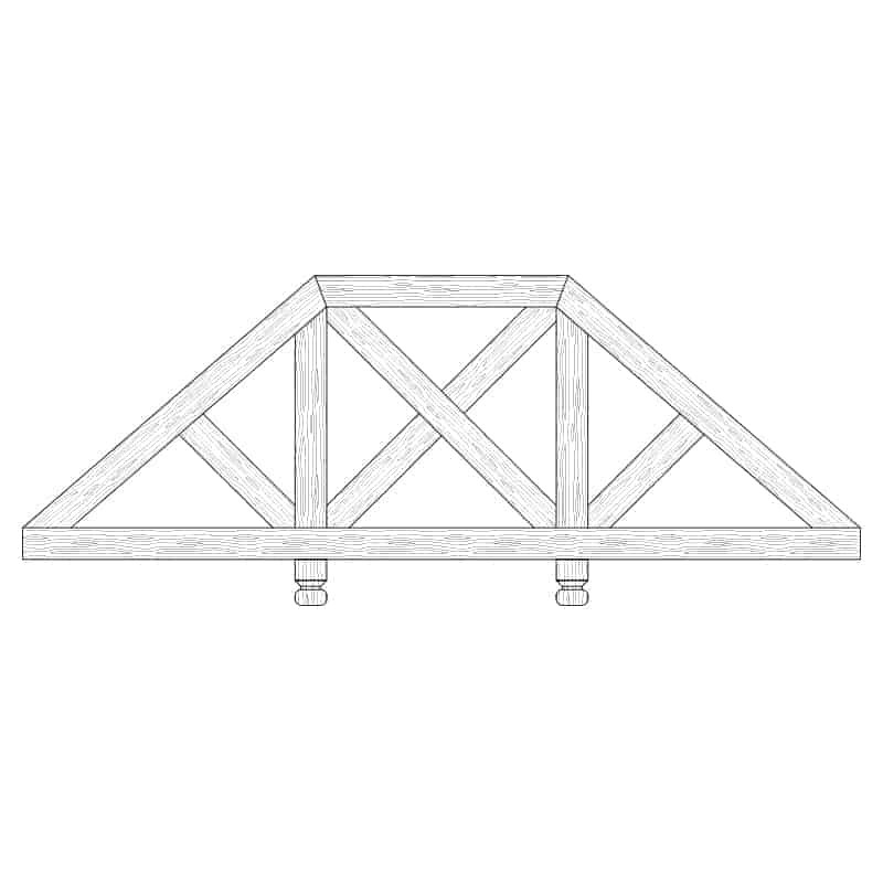 Faux Wood Ceiling Beam Truss - E2-CC-D02(d)-2F