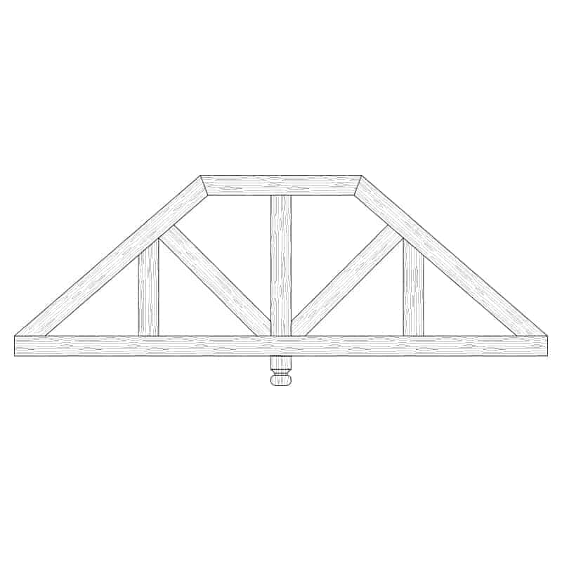 Faux Wood Ceiling Beam Truss - E2-CC-D03(b)-1F