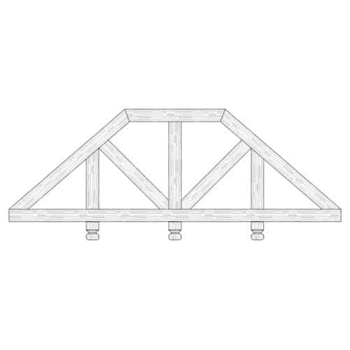 TCC - Faux Wood Ceiling Beam Truss - E2-CC-D03(b)-3F