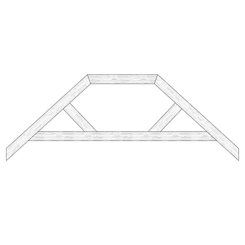 Faux Wood Ceiling Beam Truss - E2-RC-D00(c)