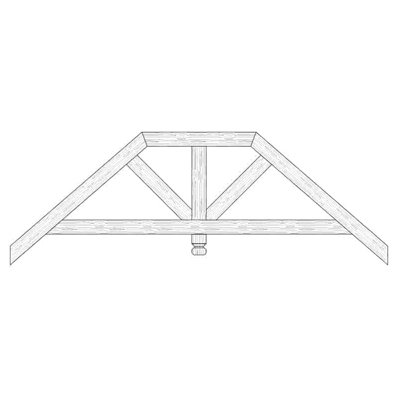Faux Wood Ceiling Beam Truss - E2-RC-D01(b)-1F