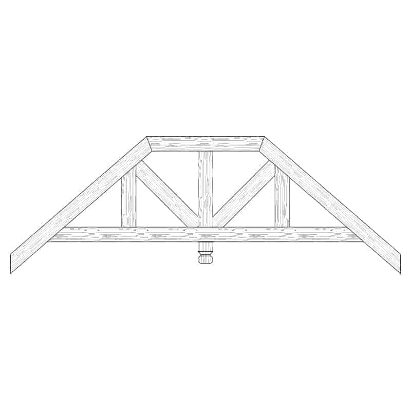 Faux Wood Ceiling Beam Truss - E2-RC-D03(c)-1F
