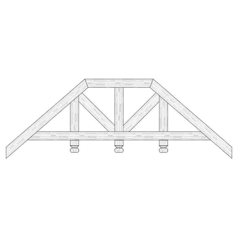 Faux Wood Ceiling Beam Truss - E2-RC-D03(c)-3F
