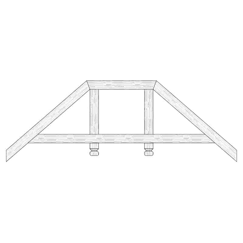 Faux Wood Ceiling Beam Truss - E2-RC-D02(a)-2F