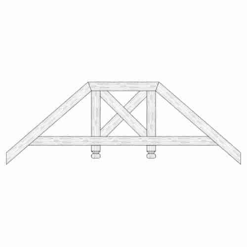 TCC - Faux Wood Ceiling Beam Truss - E2-RC-D02(c)-2F