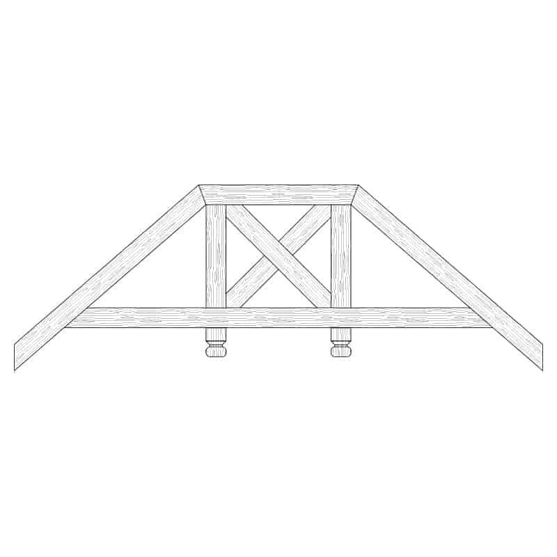 Faux Wood Ceiling Beam Truss - E2-RC-D02(c)-2F