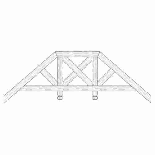 Faux Wood Ceiling Beam Truss - E2-RC-D02(d)-2F