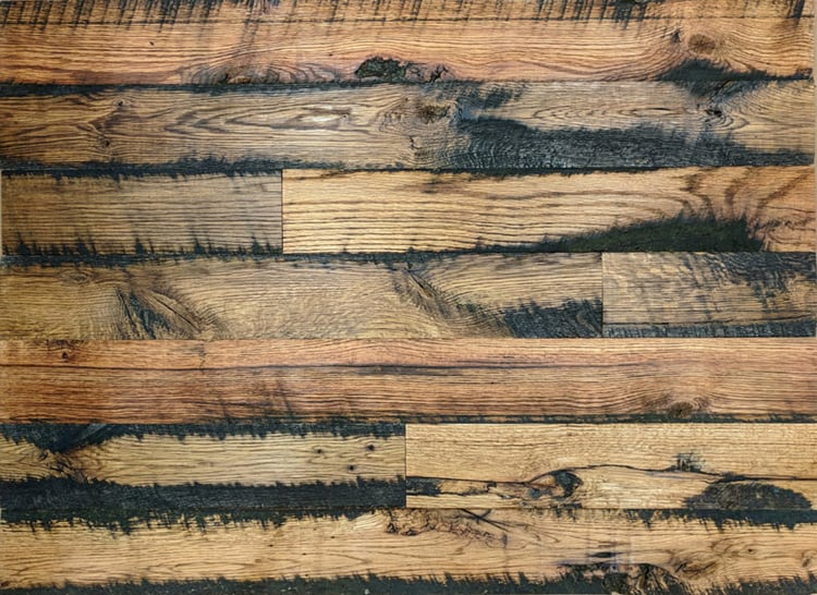Wood Ceiling & Wall Planks - Reclaimed Oak Fence - Pre-Finished (2)