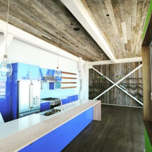 Wood Ceiling & Wall Planks - Reclaimed Distillery - Aged Gray - Installed (1)