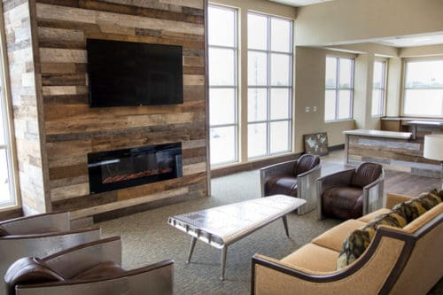 Wood Ceiling & Wall Planks - Reclaimed Distillery - Barrel Brown & Aged Gray Mix - Installed (4)