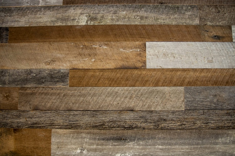 Wood Ceiling & Wall Planks - Reclaimed Distillery - Barrel Brown & Aged Gray Mix - Installed (5)
