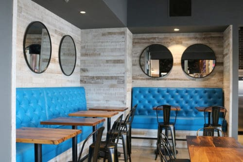 Wood Ceiling & Wall Planks - Reclaimed Distillery - Distilled White - Installed (3)