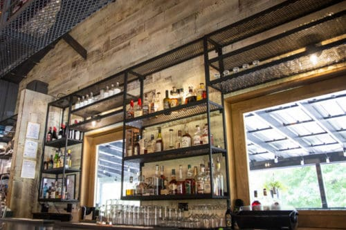 Wood Ceiling & Wall Planks - Reclaimed Distillery - Distilled White - Installed (4)