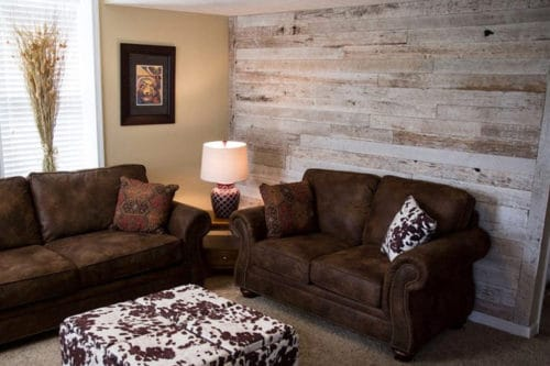 Wood Ceiling & Wall Planks - Reclaimed Distillery - Distilled White - Installed (5)