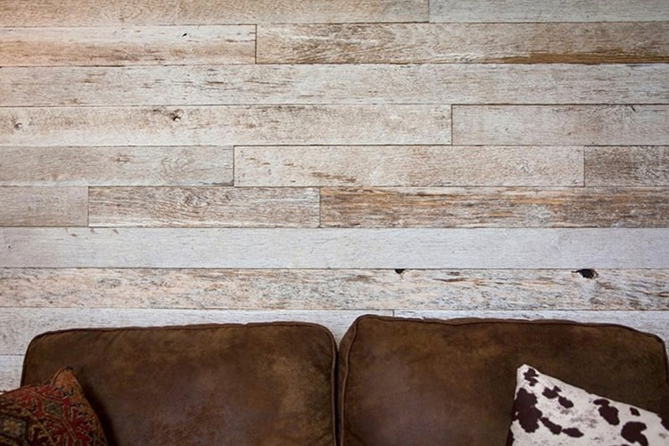 Wood Ceiling & Wall Planks - Reclaimed Distillery - Distilled White - Installed (6)