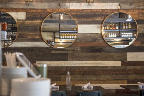 Wood Ceiling & Wall Planks - Reclaimed Distillery - MIX ALL - Installed (1)