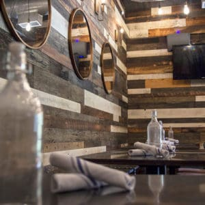 Wood Ceiling & Wall Planks - Reclaimed Distillery - MIX ALL - Installed (2)