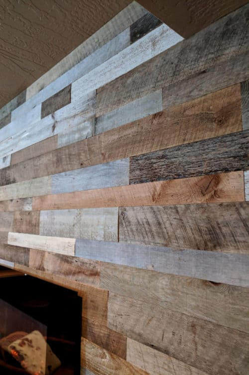 Wood Ceiling & Wall Planks - Reclaimed Distillery - MIX ALL - Installed (4)
