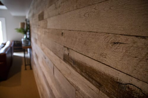 Wood Ceiling & Wall Planks - Reclaimed Distillery - Distilled White - Installed (7)