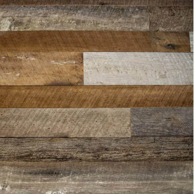 Wood Ceiling & Wall Planks - Reclaimed Distillery Wood - MIX ALL