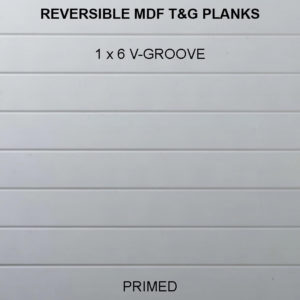 MDF T&G V-Groove Planks - 1x6
