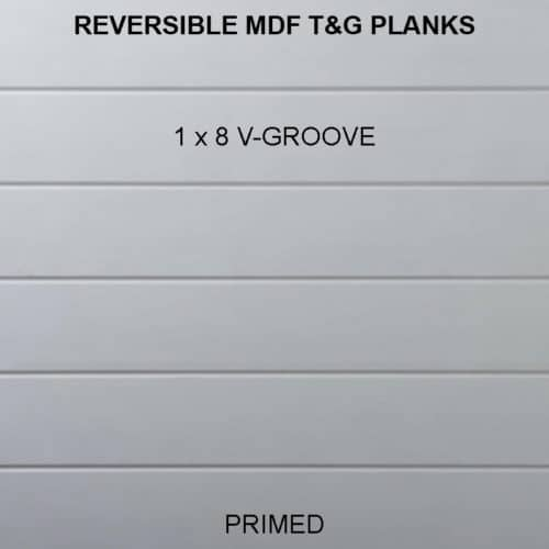 MDF T&G V-Groove Planks - 1x8