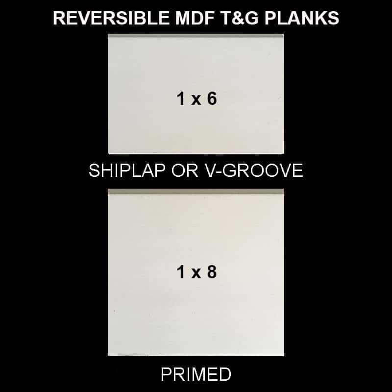 MDF T&G Shiplap & V-Groove - Sample Kit