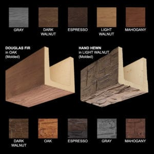 Faux Wood Ceiling Beams - Deluxe Sample Kit - PICK-2