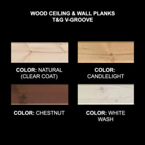 Ceiling & Wall Planks | T&G V-Groove - Sample Kit