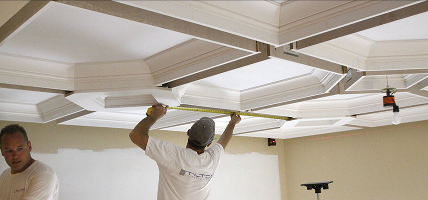 How to Install a Coffered Ceiling