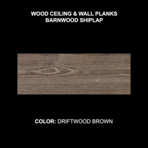Barnwood Shiplap - Driftwood Brown Sample