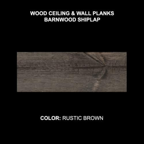 Barnwood Shiplap - Rustic Brown Sample