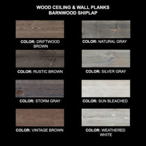 Ceiling & Wall Planks | Barnwood Shiplap - Sample Kit