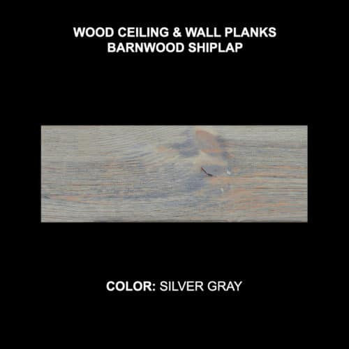 Barnwood Shiplap - Silver Gray Sample