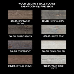 Barnwood Square Edge PLanks - Sample ALL