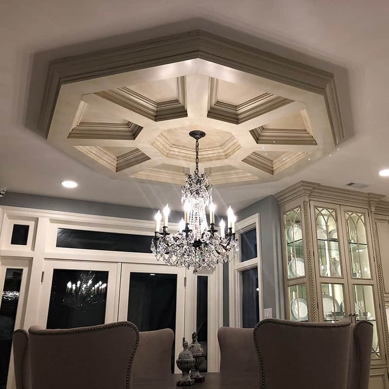 Pre-Sized Coffered Ceiling System - Octagon