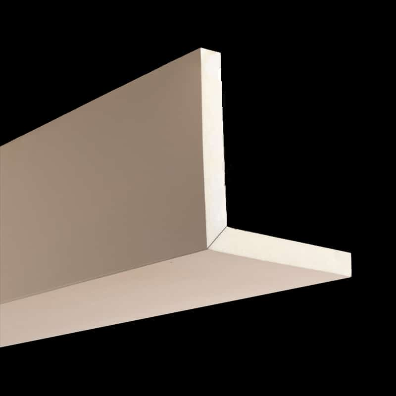 Faux Wood Ceiling Beam 2SBA - Smooth - Primed (2b)