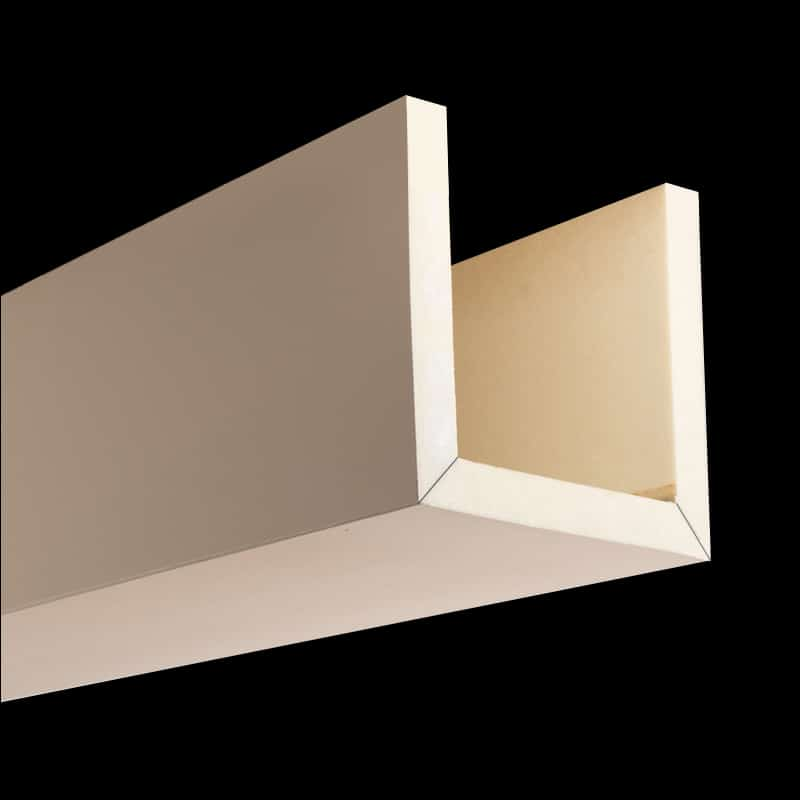 Faux Wood Ceiling Beam 3SBA - Smooth - Primed (2b)