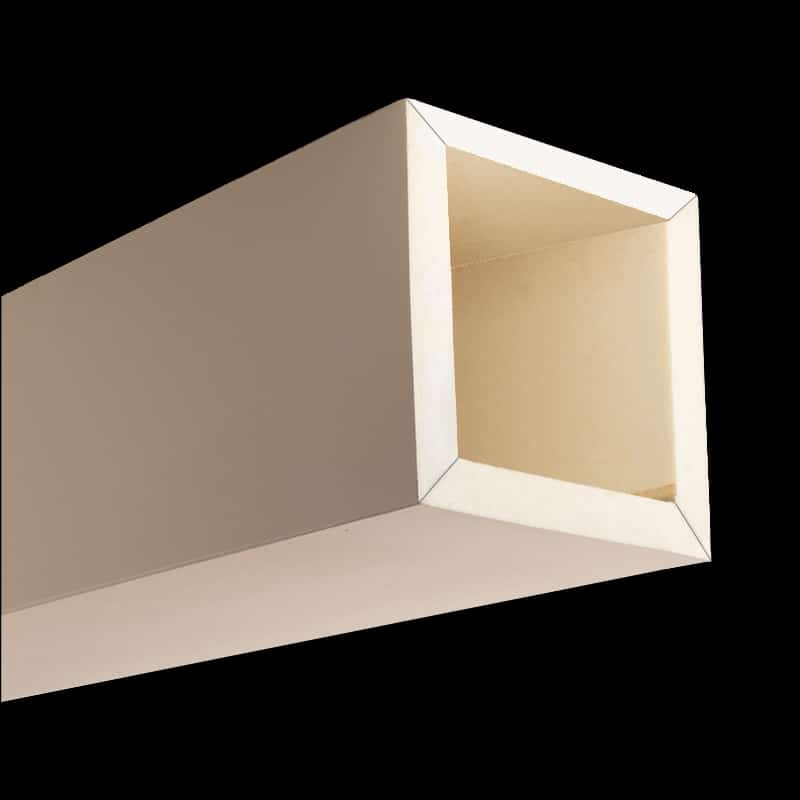 Faux Wood Ceiling Beam 4SBA - Smooth - Primed (2b)
